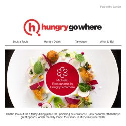 [HungryGoWhere] , dine at exclusive Michelin restaurants with ease through HungryGoWhere's new app