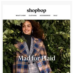 [Shopbop] We're mad about plaid