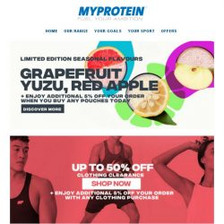 [MyProtein] Exclusive Limited Edition Seasonal Flavours 🌸
