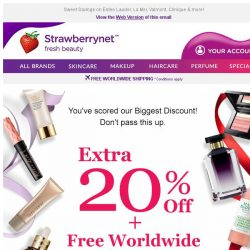 [StrawberryNet] Ends in 24 HRS! Get Extra 20% Off + Free Shipping NOW