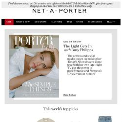 [NET-A-PORTER] Busy Philipps models chic & simple shirts, tees & denim