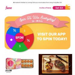 [Fave] Oh noo! Last day to spin the wheel! Try your luck ☞
