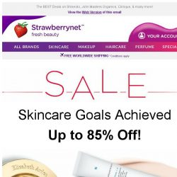 [StrawberryNet] Up to 85% Off Bargain Skincare Buys 💯