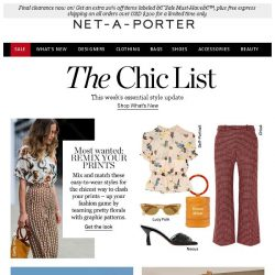 [NET-A-PORTER] The most fashion way to wear print now