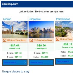 [Booking.com] London, Singapore, or Port Dickson? Get great deals, wherever you want to go