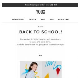 [Yoox] Kids: it's back to school time!