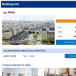 [Booking.com] Deals in Paris from S$ 488