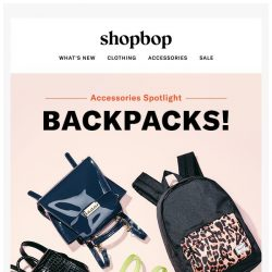[Shopbop] Old-school cool: 4 backpack brands to know