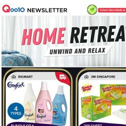 [Qoo10] Stock up on your home essentials for August! $16.90 COMFORT Fabric Conditioner 6x2L & $9.90 MAGICLEAN 2x2L