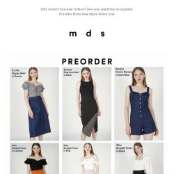 [MDS] Your wardrobe will love this upgrade | Preorder Now