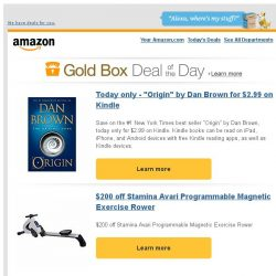 "[Amazon] Today only - ""Origin"" by Dan Brown for $2.99 on..."