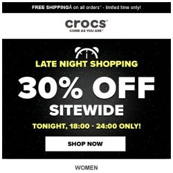 [Crocs Singapore] ⏰6hrs ONLY⏰ Don't miss out on 30% off Sitewide‼️