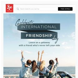 [Kaligo] , celebrate international friendship day with a getaway!