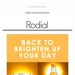 [RODIAL] Back In Stock: Vit C For Yourself 🍊
