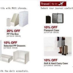MUJI: Up to 20% OFF Bestselling Items + Members Enjoy X2 MUJI$!