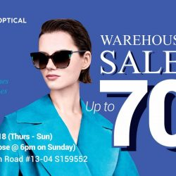 Capitol Optical: Warehouse Sale with Up to 70% OFF Eyewear from Gucci, Ferragamo, Marc Jacobs, Ray Ban & More
