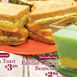 Ya Kun Kaya Toast: Kaya Durian Toast Back by Popular Demand & NEW Pandan Durian Beancurd