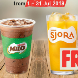 Burger King: FREE Iced Milo® or SJORA® Mango Peach for SAFRA Members in July!