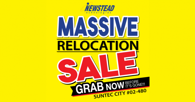 98c984b81442e5 Till 13 Aug 2018 Newstead Technologies  Massive Relocation Sale with Up to  55% OFF Electronic   IT Products at Suntec City