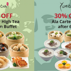 Yum Cha: All NSmen & SAFRA Card Members Enjoy 30% OFF Weekday High Tea Buffet & Ala Carte Items after 6pm