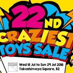 Takashimaya: 22nd Craziest Toy Sale with Up to 80% OFF Toys from Bandai, Barbie, Disney, Play-Doh, Fisher-Price & More!