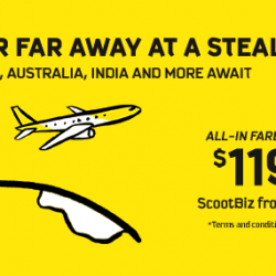 Scoot: 5-Day Sale with Fares to Europe, Australia, India & More from only $119!