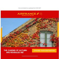 [AIRFRANCE] What will you do this fall?