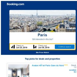 [Booking.com] Deals in Paris from S$ 490