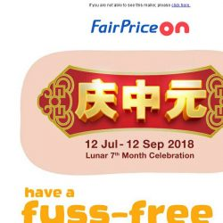 [Fairprice] Just a click away from 7th Month packages