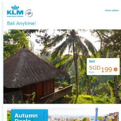 [KLM] Chill out in Bali from S$199 all-in!