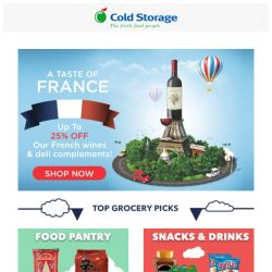 [Cold Storage] Taste of France & Grocery Deals for this weekend! 