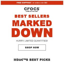 [Crocs Singapore] 【Singapore Only】 Enjoy special Price Mark Downs on bestsellers!