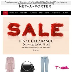 [NET-A-PORTER] Up to 80% off dresses, jeans & shoes continues