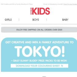 [Cotton On] WIN A TOKYO ADVENTURE WITH SUNNY BUDDY!