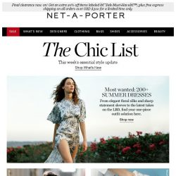 [NET-A-PORTER] The Chic List: our ultimate dress edit is here