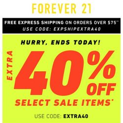 [FOREVER 21] Extra 40% off Sale?! YAAASSS!