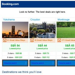 [Booking.com] Yokohama, Croydon, or Montrouge? Get great deals, wherever you want to go