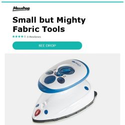 [Massdrop] Dritz Mighty Travel Steam Iron/Fabric Steamer: Small but Mighty for $17.99