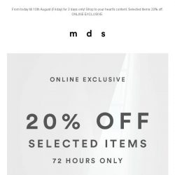 [MDS] 3 Days Only!   National Day SALE