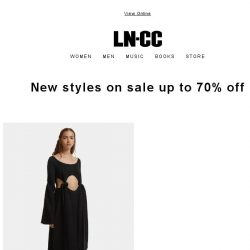 [LN-CC] FURTHER MARKDOWNS: Sale now up to 70% off