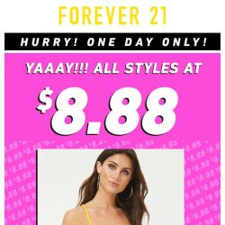 [FOREVER 21] EVERYTHING'S $8