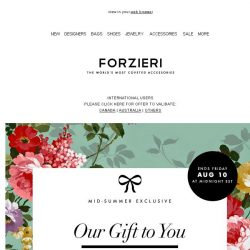 [Forzieri] $500 Off. Almost gone