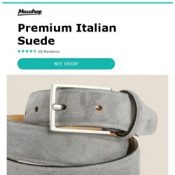 [Massdrop] British Belt Co. Stratton Belt: A Dressy Touch of Suede Made in the UK for $36.99