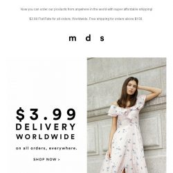 [MDS] $3.99 Flat Fee Shipping   All Orders, Anywhere