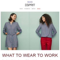 [Esprit] How to dress trendy at work