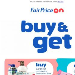 [Fairprice] Freebies and savings, just for you!