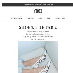 [Yoox] Shoes: All the must-have models