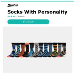 [Massdrop] ZEKE Assorted  Dress Socks: Socks With Personality for $22.99 Per 12-Pack