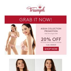[Triumph] Do Not Miss National Day Special Up to 53% Off!