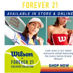[FOREVER 21] EXCLUSIVE: F21 x Wilson 🎾